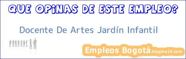 Docente De Artes Jardín Infantil