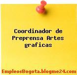 Coordinador de Preprensa Artes graficas