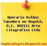 Operario Kolbus Tapadura en Bogotá, D.C. &8211; Arte Litografico Ltda