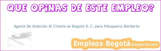 Agente De Atención Al Cliente en Bogotá D. C. para Peluqueria Norberto