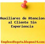 Auxiliares de Atencion al Cliente Sin Experiencia