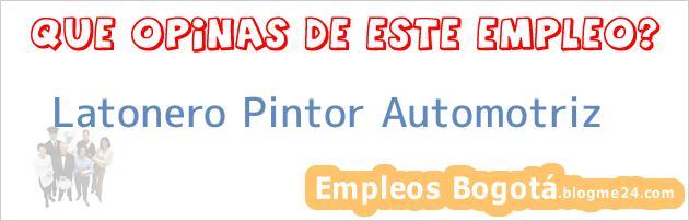 Latonero Pintor Automotriz