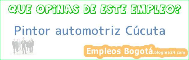 Pintor automotriz Cúcuta