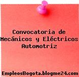 Convocatoria de Mecánicos y Eléctricos Automotriz