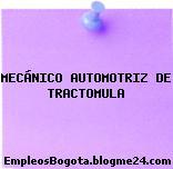 MECÁNICO AUTOMOTRIZ DE TRACTOMULA