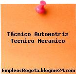 Técnico Automotriz Tecnico Mecanico