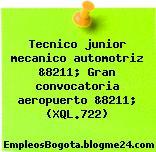 Tecnico junior mecanico automotriz &8211; Gran convocatoria aeropuerto &8211; (XQL.722)