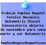 Trabajo Empleo Bogotá Tecnico Mecanico Automotriz Diesel Convocatoria abierta 16 noviembre para zona norte y sur Automotriz