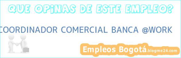 COORDINADOR COMERCIAL BANCA WORK