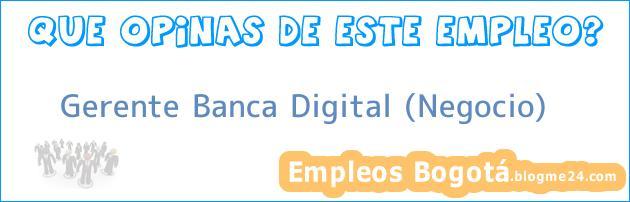 Gerente Banca Digital (Negocio)