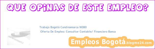 Trabajo Bogotá Cundinamarca N080 | Oferta De Empleo: Consultor Contable/ Financiero Banca
