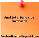 Analista Banca de Inversion
