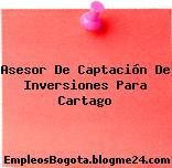 Asesor De Captación De Inversiones Para Cartago