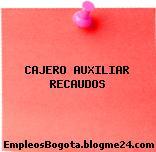 CAJERO AUXILIAR RECAUDOS