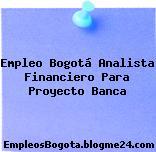Empleo Bogotá Analista Financiero Para Proyecto Banca
