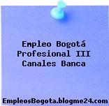 Empleo Bogotá Profesional III Canales Banca