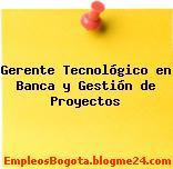 Gerente Tecnológico en Banca y Gestión de Proyectos