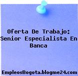 Oferta De Trabajo: Senior Especialista En Banca