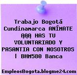 Trabajo Bogotá Cundinamarca ANÍMATE ¡¡¡ HAS TU VOLUNTARIADO Y PASANTIA CON NOSOTROS | BHM580 Banca