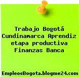 Trabajo Bogotá Cundinamarca Aprendiz etapa productiva Finanzas Banca