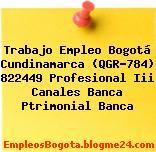 Trabajo Empleo Bogotá Cundinamarca (QGR-784) 822449 Profesional Iii Canales Banca Ptrimonial Banca
