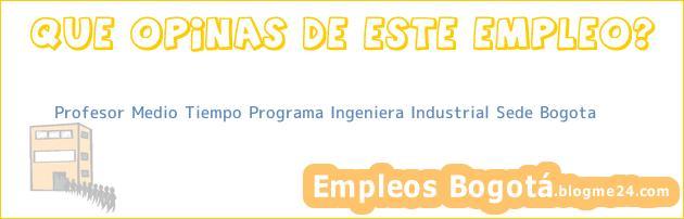Profesor Medio Tiempo Programa Ingeniera Industrial Sede Bogota
