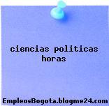 ciencias politicas horas