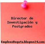 Director de Investigación y Postgrados