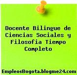 Docente Bilingue De Ciencias Sociales Y Filosofia – Tiempo Completo
