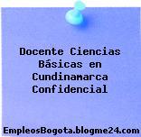 Docente Ciencias Básicas en Cundinamarca Confidencial