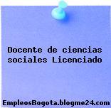 Docente de ciencias sociales Licenciado