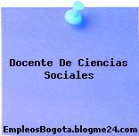 Docente De Ciencias Sociales