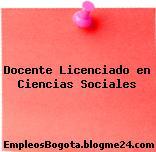 Docente Licenciado en Ciencias Sociales
