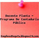 Docente Planta – Programa De Contaduría Pública