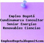 Empleo Bogotá Cundinamarca Consultor Senior Energías Renovables Ciencias