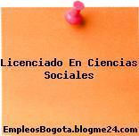 Licenciado En Ciencias Sociales