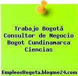 Trabajo Bogotá Consultor de Negocio Bogot Cundinamarca Ciencias