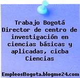 Trabajo Bogotá Director de centro de investigación en ciencias básicas y aplicadas, cicba Ciencias