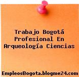 Trabajo Bogotá Profesional En Arqueología Ciencias