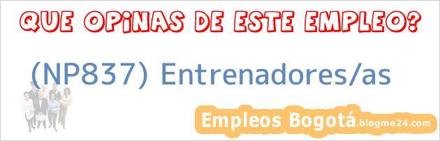 (NP837) Entrenadores/as