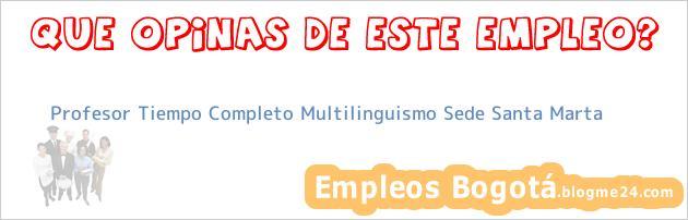 Profesor Tiempo Completo Multilinguismo Sede Santa Marta
