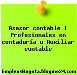 Asesor contable   Profesionales en contaduría u Auxiliar contable