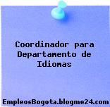 Coordinador para Departamento de Idiomas
