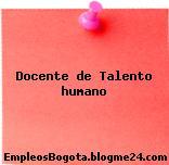Docente de Talento humano
