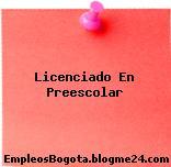 Licenciado En Preescolar