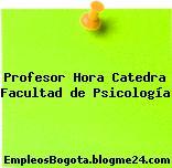Profesor Hora Catedra Facultad de Psicología