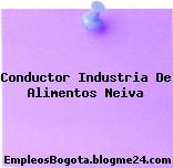 Conductor Industria De Alimentos Neiva