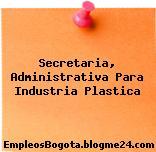 Secretaria, Administrativa Para Industria Plastica