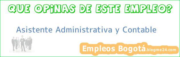Asistente Administrativa y Contable