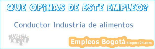 Conductor Industria de alimentos
